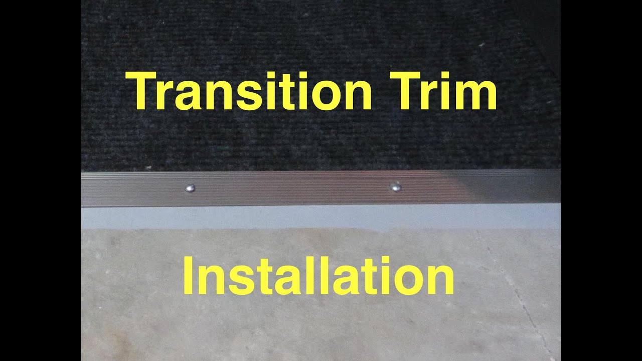 Carpet transition trim installation carpet to concrete youtube dailygadgetfo Images