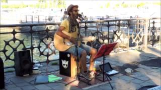 "Edwin ""BUDAPEST"" busking at Como Lake 04/05/2014"