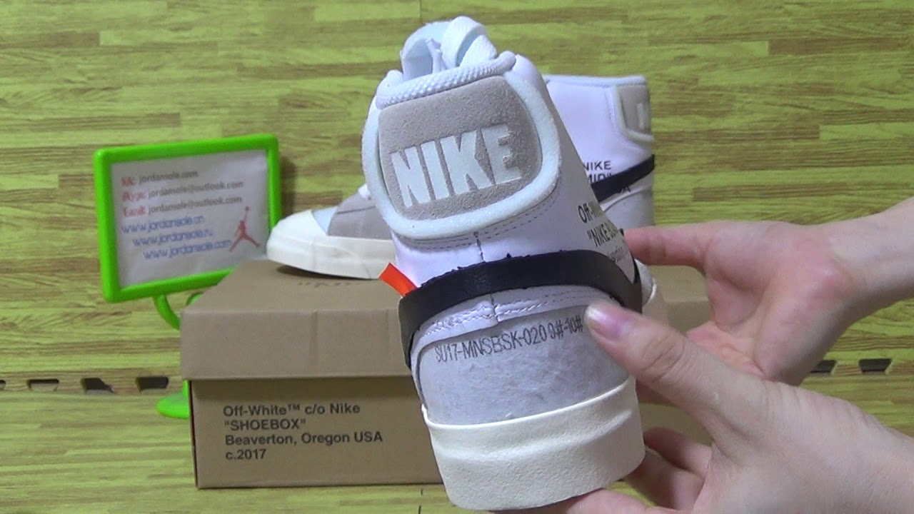 Authentic Nike x Off White Blazer Mid from jordansole