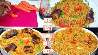 Carrot jollof rice recipe | Very easy and tasty! A must try!!