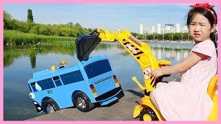 [타요와 한강 나들이]보람이 몰래 놀이터간 타요(조심해 타요!)포크레인 꼬마버스타요 천하장사중장비 최고의중장비 자동차동요 타요오프닝 Tayo Bus in Real Life 보람튜브