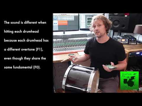 Showing the coupling between batter and resonant drumheads - drum tuning essentials
