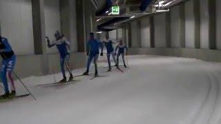 Gli azzurri del fondo sciano nel frigorifero di Oberhof