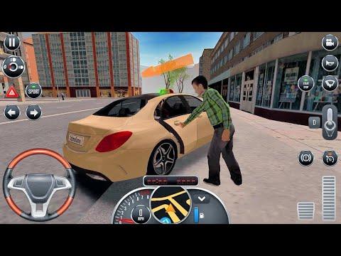 Araba Oyunları Direksiyonlu Taksi ile Yolcu Taşımacılık Çocuklar İçin