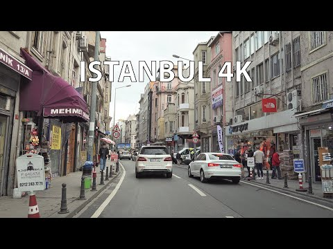 Istanbul 4K - Driving Downtown - Turkey
