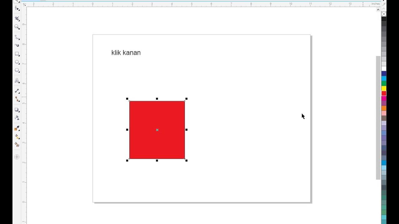 Menghilangkan Garis Hitam Corel Draw X7 Youtube