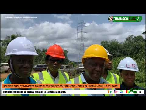 TRANSCOTV1 LIBERIA ENERGY MINISTER TOURS CLSG PROJECT SITES