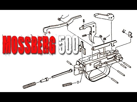 mossberg 500 complete trigger disassembly and reassembly youtube rh youtube com Mossberg 500 Trigger Group Mossberg 500 Safety Assembly Installation