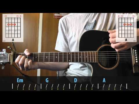 Gary Jules - Mad World guitar lesson for...