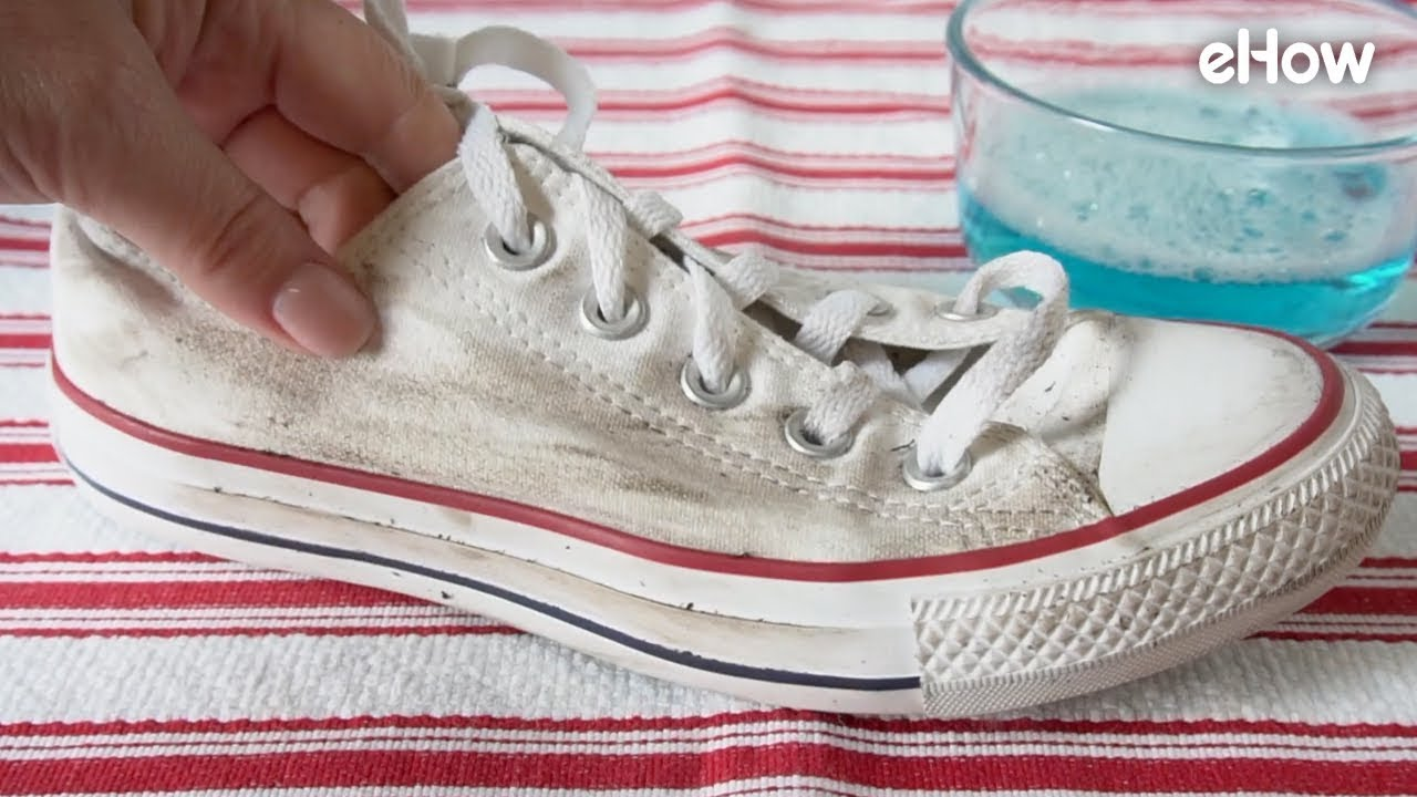 How to Clean Canvas Shoes - YouTube