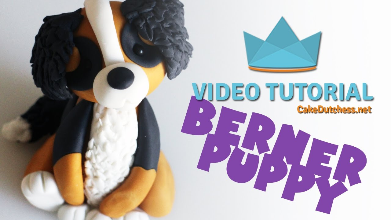 How To Make A Bernese Mountain Dog Cake Topper Cake Decorating Tutorial