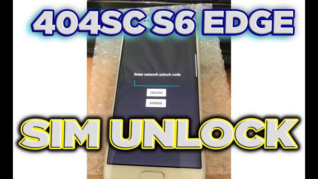 How to Unlock Galaxy S6 edge softbank 404sc