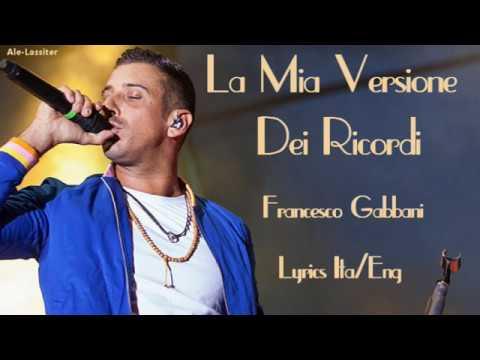 Francesco Gabbani-La mia versione dei ricordi Lyrics (Sub Ita/Eng)