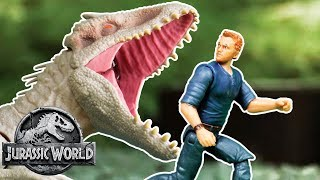 Indominus Escapes and Attacks Everyone! (Sweded) | Jurassic World | Mattel Action!