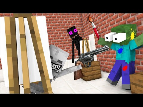 Monster School : DRAWING CHALLENGE NEW EPISODE - Minecraft Animation