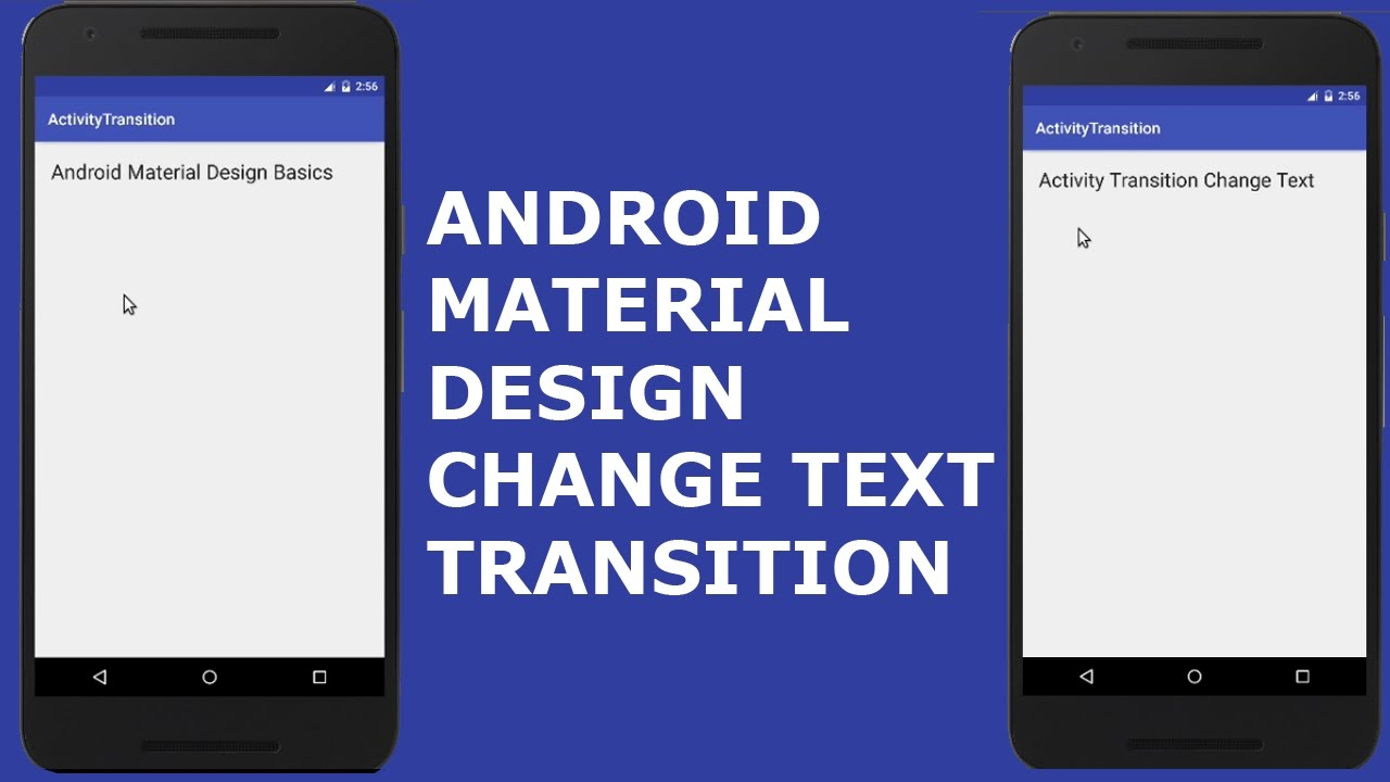 ANDROID MATERIAL DESIGN CHANGE TEXT TRANSITION