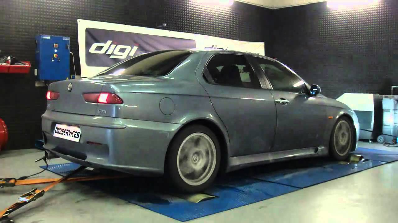 reprogrammation moteur alfa romeo 156 gta 256cv dyno digiservices youtube. Black Bedroom Furniture Sets. Home Design Ideas