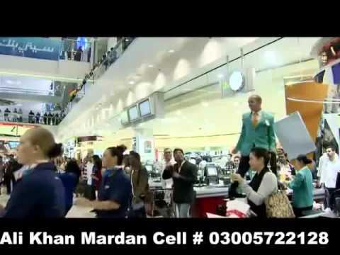 Fly dubai Opening ceremony Dance on pashto music Terminal 3