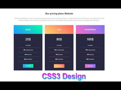 CSS 3 Design Contain Website