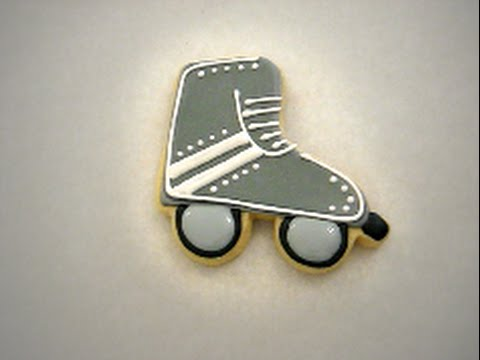 Roller Skate Sugar Cookie With Royal Icing Decoration Youtube
