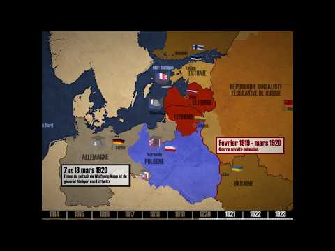 Les Marches De L'Est Entre 1917 Et 1923