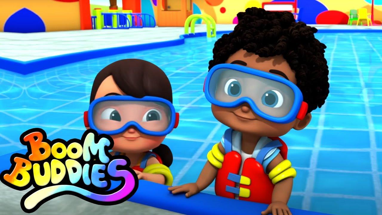 Canción de natación | Dibujos animados | Educación | Boom Buddies Español | Rimas para niños