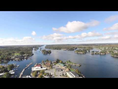 Thousand Islands drone footage