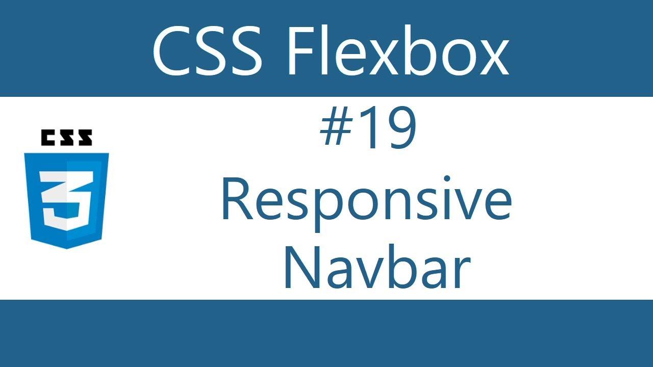 Flexbox Tutorial - 19 - Responsive Navbar