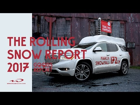 Introducing: The Rolling Snow Report