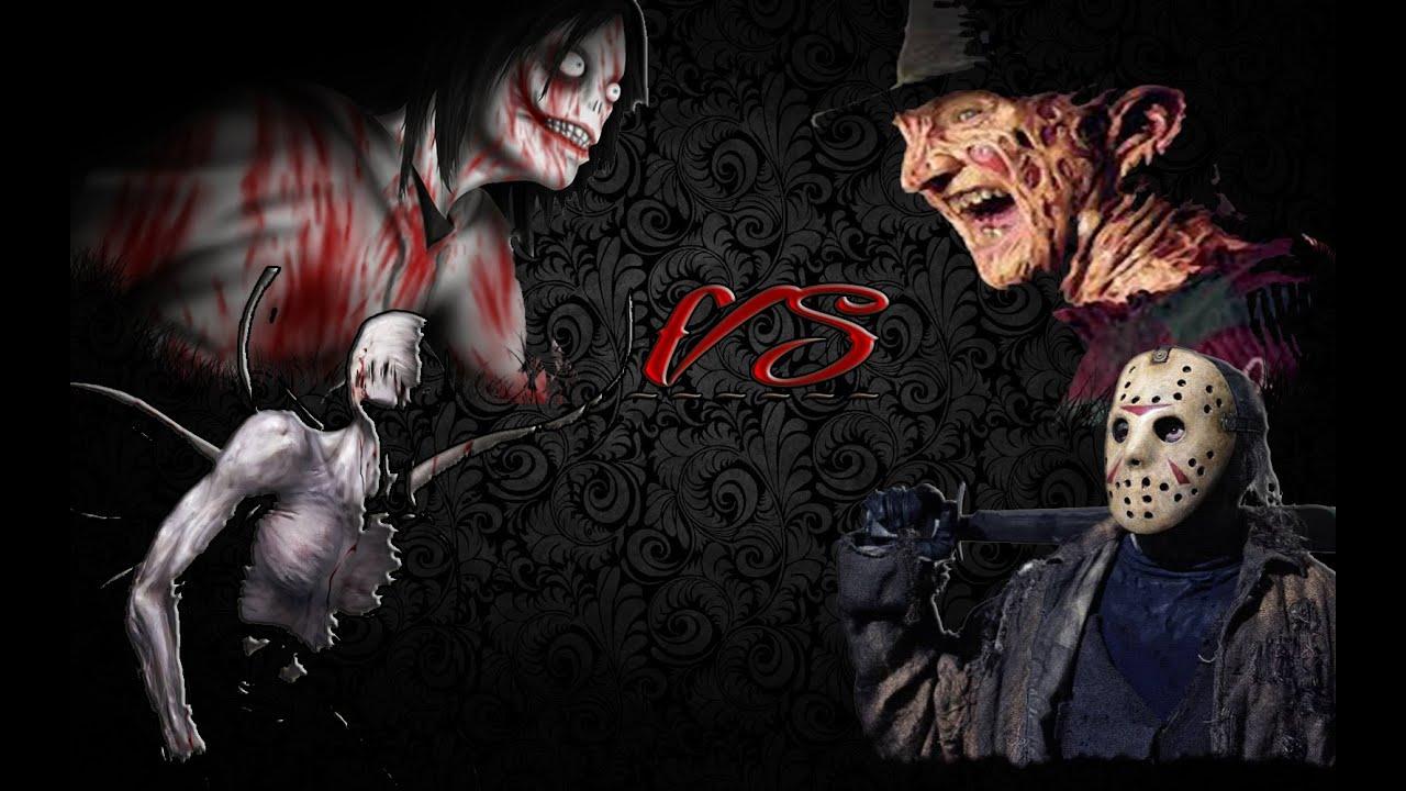 ESPECIAL DE HALLOWEEN   Jeff the killer  Slenderman Vs Freddy Krueger    Jeff The Killer Vs Freddy Krueger