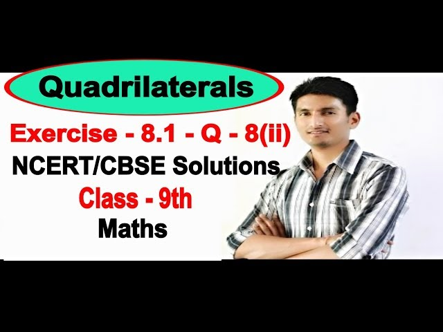 Chapter 8 Exercise 8.1 Question 8(ii) - Quadrilaterals Class 9 Maths - NCERT Solutions
