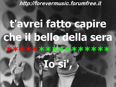 Luigi Tenco - Io si - KARAOKE