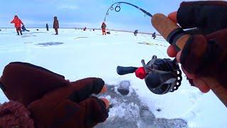 ОН ЧУТЬ УДОЧКУ НЕ ВЫДЕРНУЛ ИЗ РУК рыбалка зимой 2020