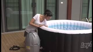 """СПА-бассейн """"Майами"""" 180х66см с эффек.джакузи, для 2-4 человека, 800л, тент, насос, дозатор д./химии"""