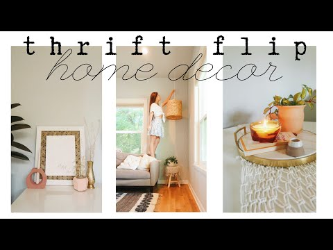 THRIFTED DIY HOME DECOR | pinterest, anthropologie, urban outfitters inspired thrift flip