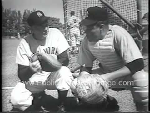 1954 New York Yankees at Spring Training Newsreel PublicDomainFootage.com