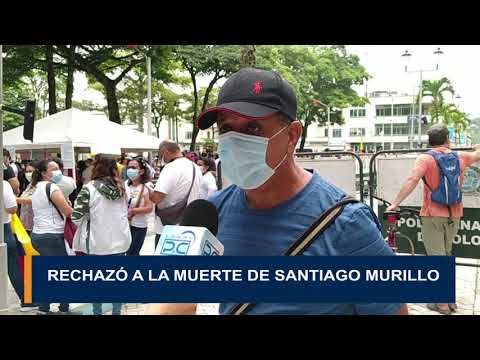 Rechazo a la muerte de Santiago Murillo