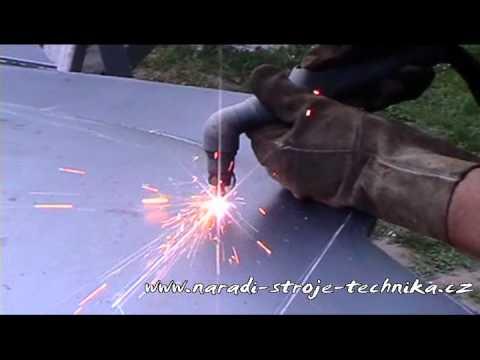 f24c13544 Plasma - řezání plechu 5mm - YouTube