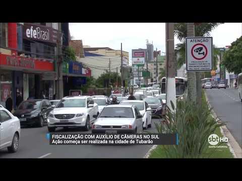Câmeras de segurança fiscalizam motoristas em Tubarão, no sul do estado
