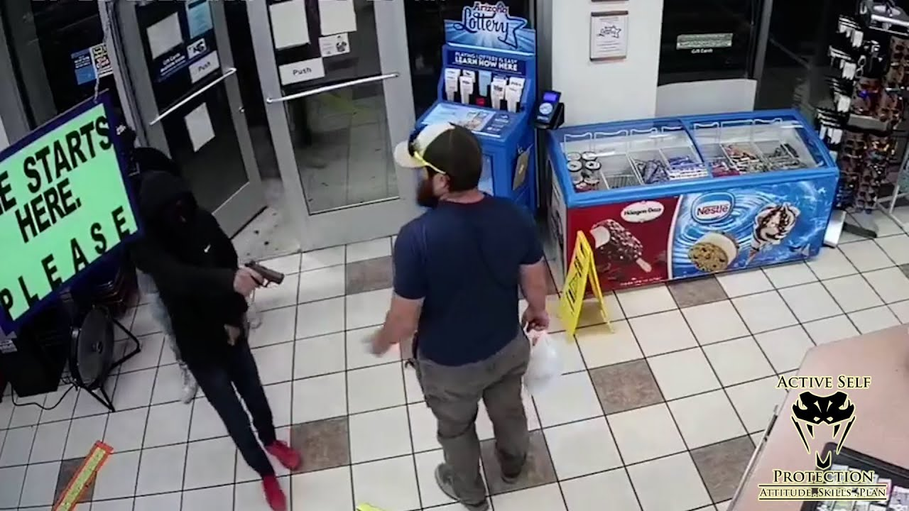 Former Marine Absolutely Wrecks Armed Robber