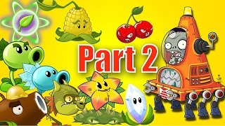 plants vs zombies 2 it s about time every plant power up vs robo cone zombie part 2
