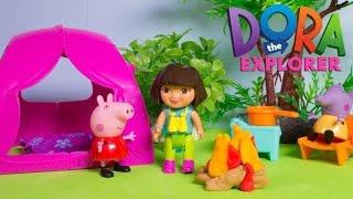 Dora The Explorer Camping Playset Peppa Pig & Dora Camping Campamento Nickelodeon Fisher Price