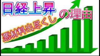 日経上昇!株価悪材料出尽くし理由。日本電産に続く中国関連株