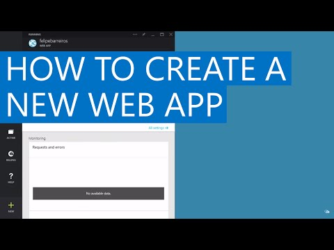 How to create a new Web App | Azure App Service