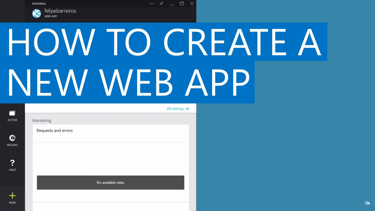 How To Create A New Web App  Azure App Service