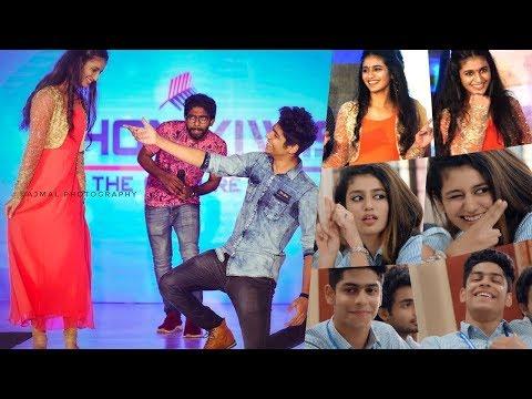 Priya Varrier  Roshan Dance Live At Kochi  Oru Adaar Love Actress And Crew Live