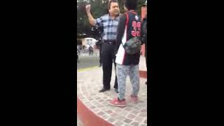 Funcionario del municipio de Comonfort, Guanajuato impide manifestación de jóvenes
