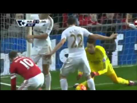 Manchester United vs Swansea City 2 1 All Goals