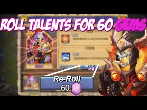 Castle Clash ROLL Talents For 60 Gems! (Mind-blowing)