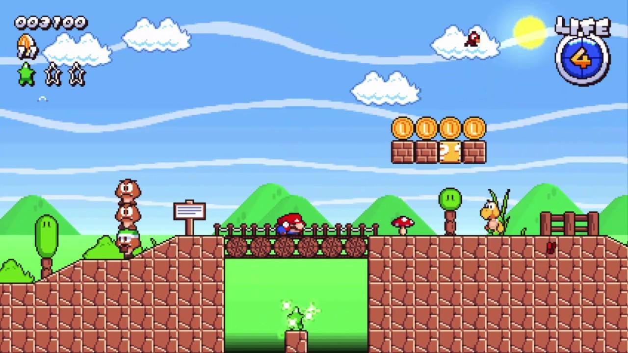 super mario mushroom kingdom background
